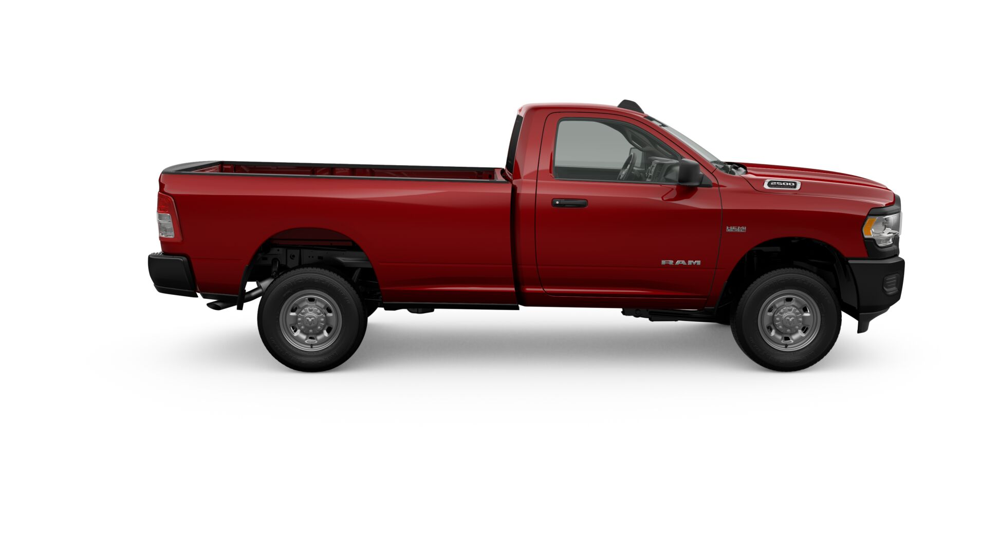 2019 Ram Tradesman Red Exterior Side Profile