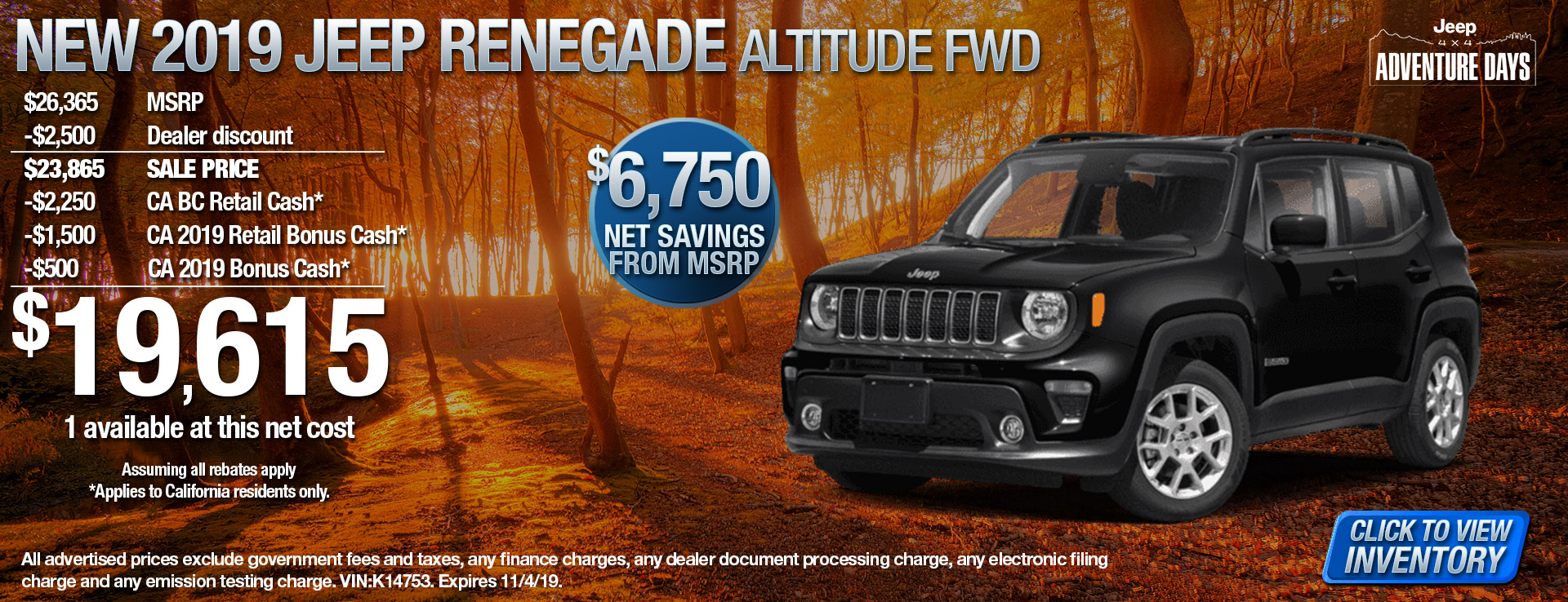 19 Jeep Renegade