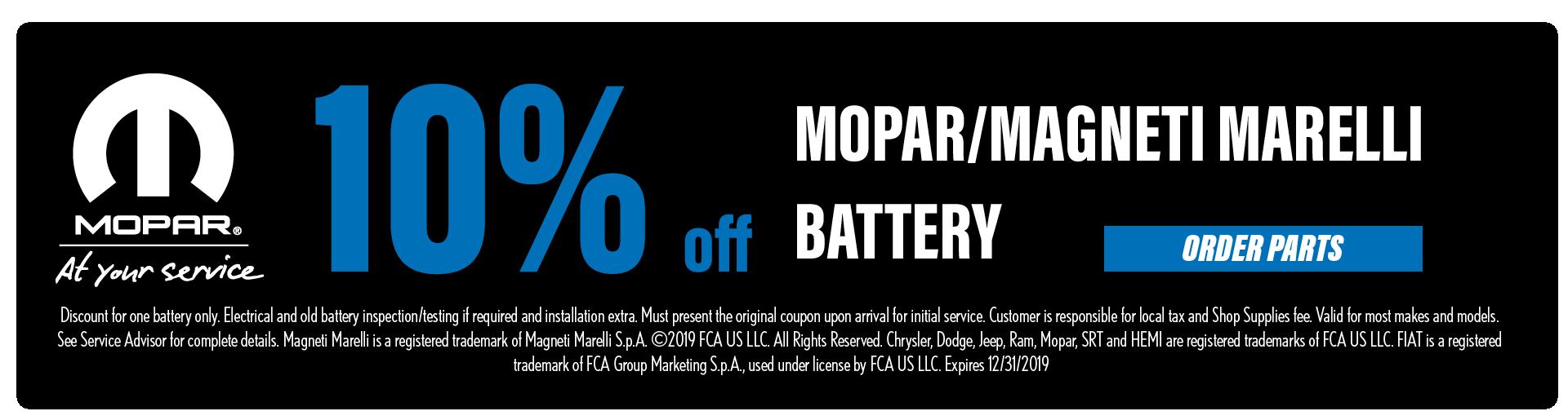 Mopar/Magneti Marelli Battery