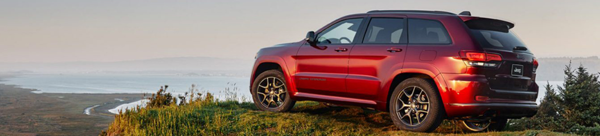2020 Jeep Grand Cherokee Rear View Red Exterior Picture