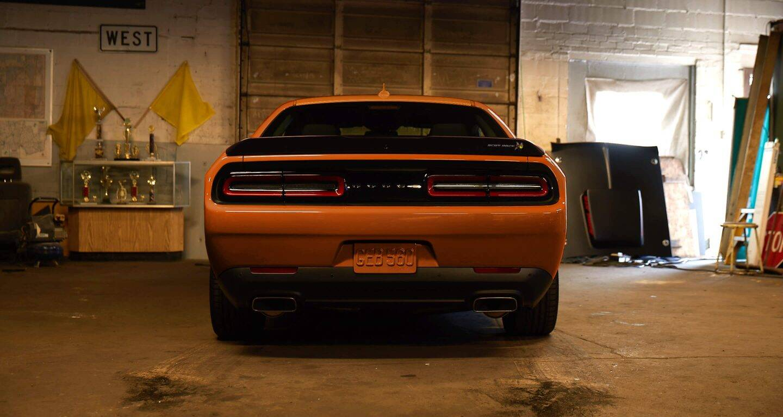 2020 Dodge Challenger Rear View Exterior Orange Picture