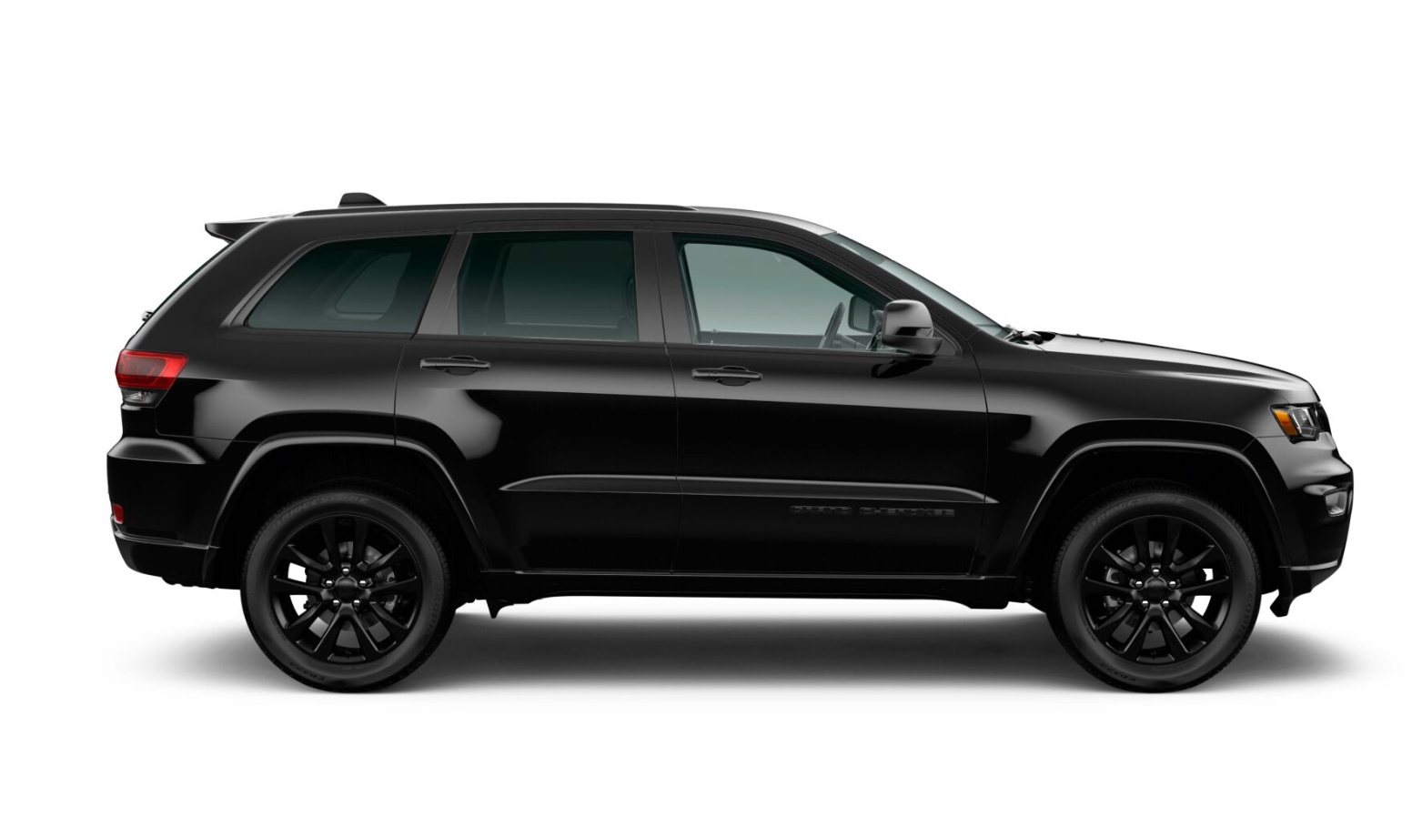 2020 Jeep Grand Cherokee Altitude Side View Black Exterior