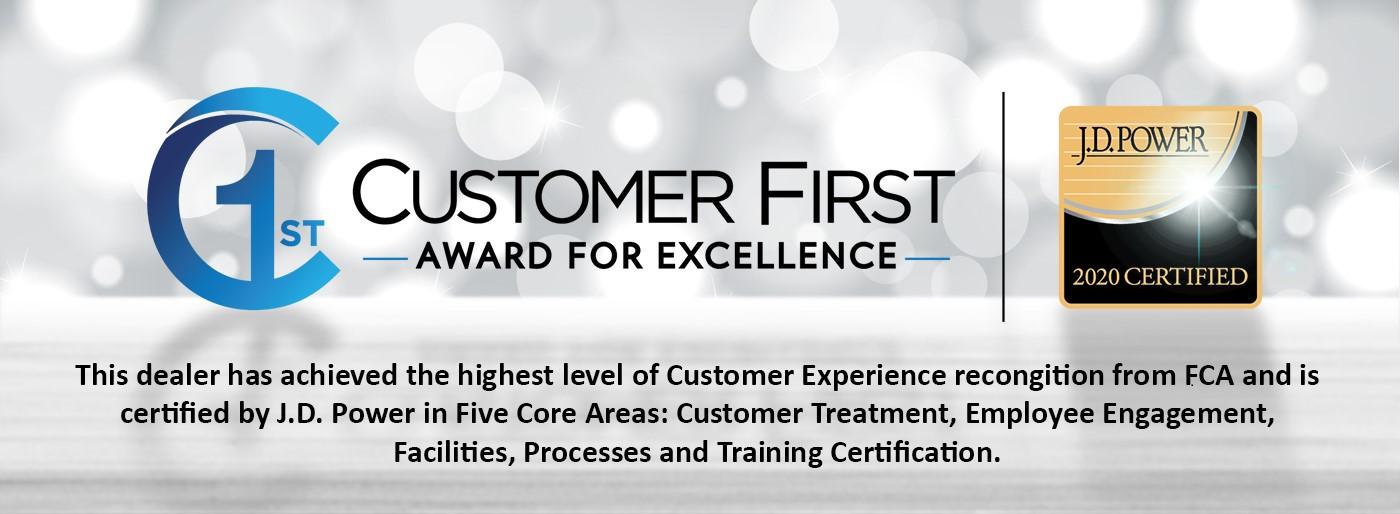 2020 Customer first experience award
