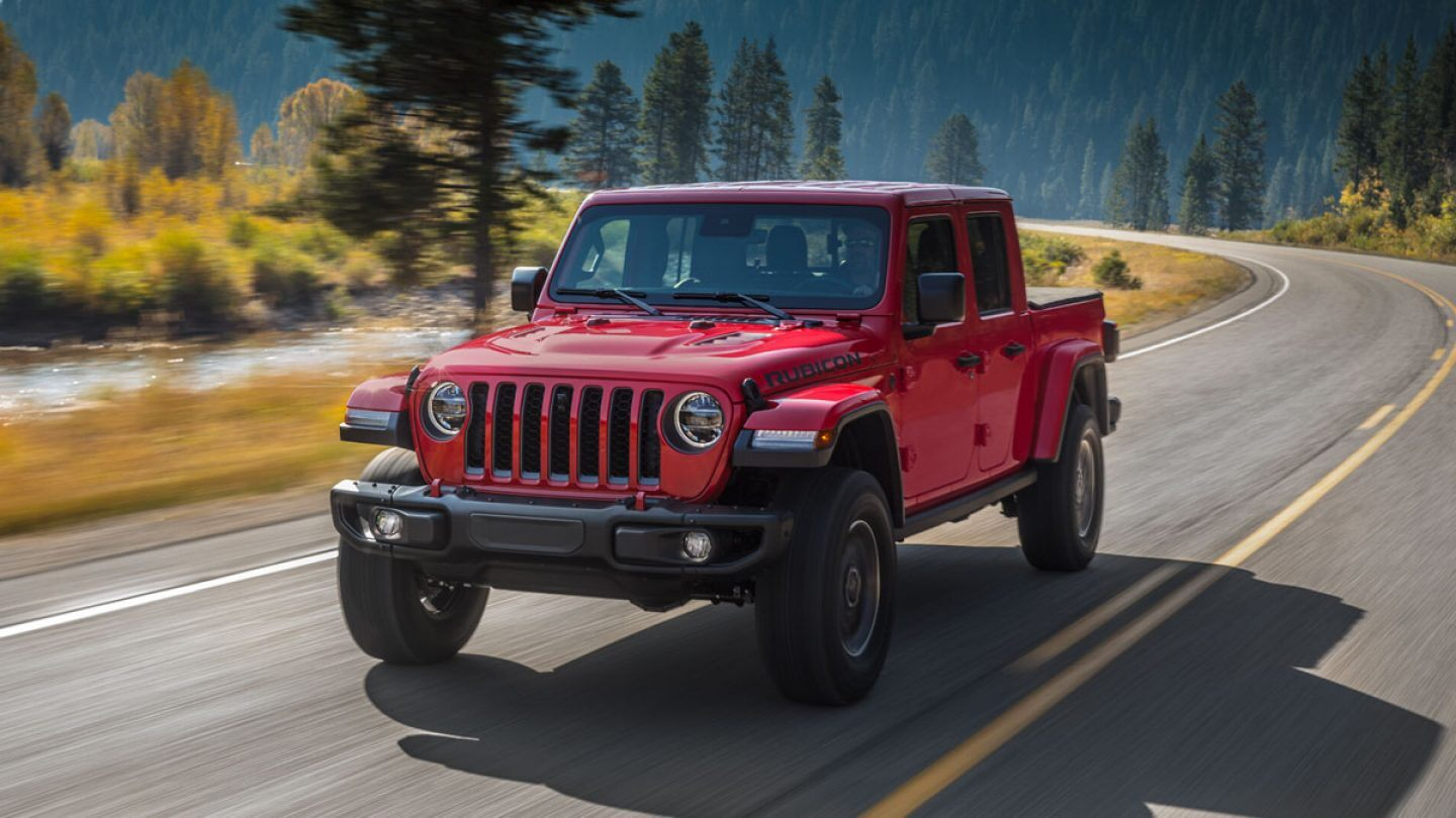 2020 Jeep Gladiator Rubicon Red Exterior Front